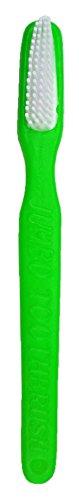 Zahnbürste Grün - Lustige Dekoration zum Faschingskostüm Clown Arzt Zahnfee (Grüne Riesen Kostüme)