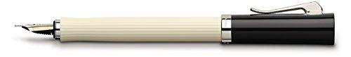 Graf von Faber-Castell Füllfederhalter Intuition kanneliert Elfenbein, Feder M, weiß