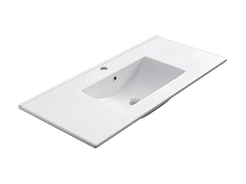 VE.CA. Lavabo ad Incasso Fresh 102 in Ceramica Bianca arredo Bagno Design Alta qualità