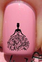 Blume Hochzeitskleid - Nagelabziehbild von YRNails