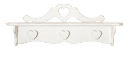 Attaccapanni con ripiano in legno con pomelli a cuore disponibile in diverse rifiniture L'ARTE DI NACCHI 4993/BG