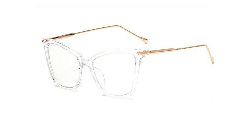 Zokra TM sexy schwarze Katze Auge klare Linse weibliche Gl?ser Art und Weise neue Marke Designer-Brillen optische Rahmen Frauen Gl?ser Klar Goggles [transparent]