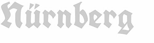 Plott Farbe: Silber - 4 x 16 cm ( HxB ) - Schriftzug Kontur geschnitten - Autoaufkleber Nürnberg...