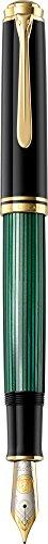 Pelikan M1000 Füllfederhalter Souveraen 1000 Feder M in Geschenkbox, grün/schwarz