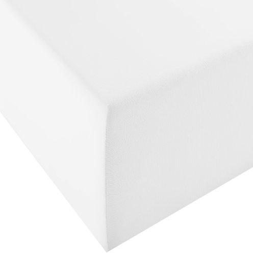 Fleuresse Comfort XL-Jerseyspannlaken, weiß, 90 x 200 cm, 100 x 220 cm