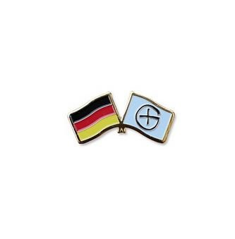 geo-versand Germany Flag Geocaching Logo - Oak Pin Geocaching Anstecker CoinsAndPins Trackables, TB, Coin, Coins, mit Travelbug