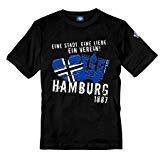 Volkspark Hamburg Streetwear T-Shirt Eine Stadt Eine Liebe EIN Verein (schwarz, XL)