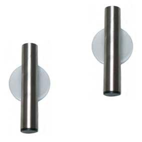 2 Stück Set Zahnbürstenhalter Edelstahl Halter Zahnbürste Saugnapf Wand Behälter Badutensilienbehälter ohne bohren