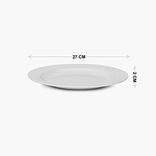 Home Centre Meadows Urban Melamine Textured Plate - White