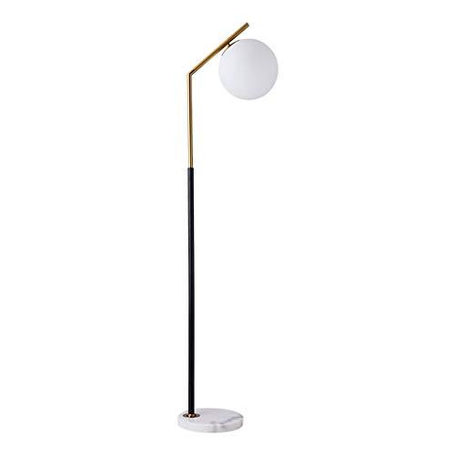 Glas Lampenschirme Stehlampen ($stehlampe Glas Lampenschirm Stehlampe - Milchglas Kugel Und Messing Oberfläche Stehlampe for Wohnzimmer Schlafzimmer Büro Hotel Lampe Stehlampe (Color : B))