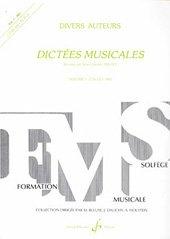 Dictées Musicales Volume 1 - Eleve - Livre + CD par Jollet Jean-Clement