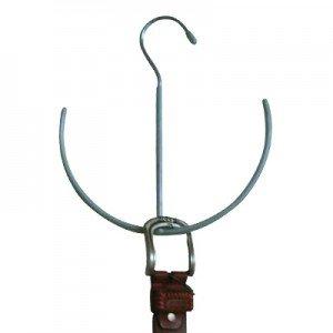 MSV 348 percha para cinturones metal/Con revestimiento de plástico PVC azul 22 x 21 x 0,1 cm