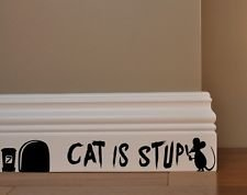 "Preisvergleich Produktbild Aufkleber ""Cat is stupid"", Vinyl, selbstklebend"