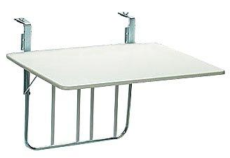 Videx 16001 Balkonklapptisch 60x80cm Weiß