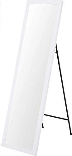 Fair-Shopping Spiegel Standspiegel Ganzkörperspiegel Ankleidespiegel stehend 125 cm Weiß 8050