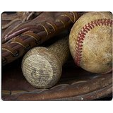 Luxlady Gaming Mousepad una foto macro di un guanto da baseball e pipistrello Image ID 4580203