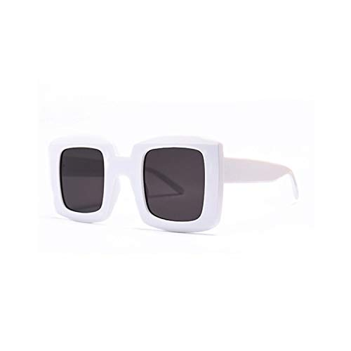 Sport-Sonnenbrillen, Vintage Sonnenbrillen, Women Unisex Square Sunglasses NEW Men Fashion Style Sun Glasses Ladies Oversized Big Frame Eyewear Black Leopard UV400 C2 White.Gray