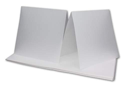 e-Papier für quadratische Karten - transparent-weiß I gefaltet 15 x 15 cm -ungefaltet 15 x 30 cm| Bedruckbar mit Laser | hochwertig mattes Papier von NEUSER® ()