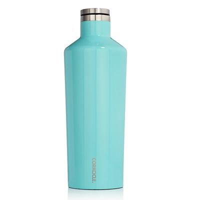 Corkcicle Canteen - Water Bottle and Thermos - Keeps Beverages Cold for Over 25, Hot for Over 12 Hours - Triple Insulated with Shatterproof Stainless Steel Construction - Turquoise - 9 oz. by Corkcicle