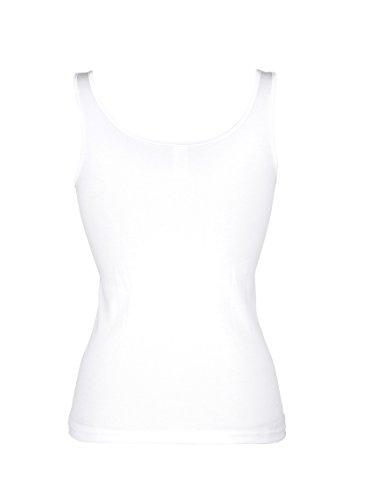 Damen Achselhemden by Nina v.C. 4x weiß
