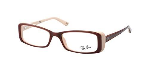 Ray-Ban RX5243F - 5078 Eyeglasses Frame Brown Over Beige 52mm