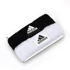 Adidas WOM SPBANDS 2PP Schweißbänder Armbänder Tennis G69532, Farbe: weiss, schwarz Adidas Armband