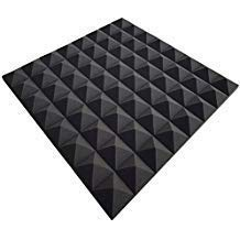 Pyramide Noppenschaumstoff,Akustik Schaumstoff, Akustikschaumstoff, Pyramiden Akustik, Dämmung, (99 x 99 x 4 cm, Anthrazit/Schwarz)