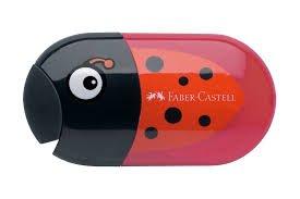 Faber-Castell doppia temperamatite con gomma da cancellare