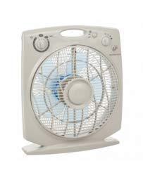 S & P Box Fan Meteor ES N Ventilator, mit Zeitschaltuhr
