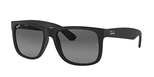 Ray Ban RB4165 Justin 622/T3 Rubber Black Polarized Sunglasses 55mm