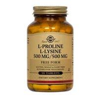 Solgar L-Proline/L-Lysine Tablets (500/500 mg)