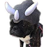 Youbedo Triceratops Hund Kostüm Dinosaurier Kopfbedeckung Gummiband Hund - Dino Dog Kostüm