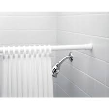"Aurora Shower Curtain Rod, Expandable, Extendable 42""- 78"", Adjustable, Spring, Tension Pole Heavy Duty Rod,"