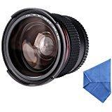 Beschoi Objectif Fisheye 58mm 0.35x Lentille Grand Angle avec Bouchon d'Objectif pour Canon EOS 700D 650D 600D 550D 500D 450D 400D 300D 100D 1000D 1100D Nikon Sony Pentax Sigma et d'Autres Appareils Photo