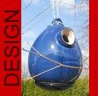 hochwertiges design Keramik Vogelhaus - Nistkasten - Egg Marine
