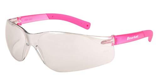 BEARKAT PINK / WHITE MIRROR : Sport-Sonnenbrille mit weißen Spiegelgläsern - Damen Gesichtsprofil Mittel Klein - UV400 100% UVA / B-Schutz - Stoß- und kratzfest