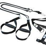 BodyCROSS Premium Schlingentrainer mit Türanker und Zertifikat (InBuB-Siegel) | Sling Trainer Set inkl. Übungsposter, Trainingsplan, Befestigung | abnehmbare Griffe | Made in Germany | (sw o Spacer)