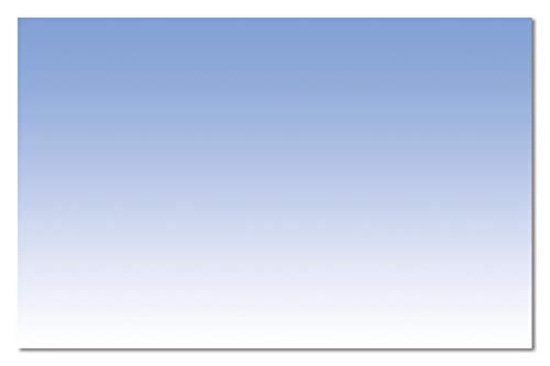 Sigel DP746 Visitenkarten blau, 100 Stück = 10 Blatt, glatter Schnitt rundum, 85x55 mm