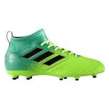 Adidas Ace 17.3 FG J, para los Zapatos de Entrenamiento de Fútbol Unisex Niños, Verde (Versol/Negbas/Verbas), 31.5 EU