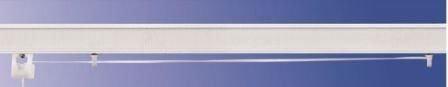 Bastone binario per tenda a pacchetto a vetro professionale tecnico in alluminio l.40 a 2 cadute