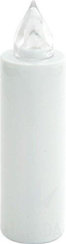 Confezione 3 PZ MICRO MINI Lumino Bianco a LED effetto fiamma durata 100 giorni - batterie sostituibili - LOCULI CIMITERO