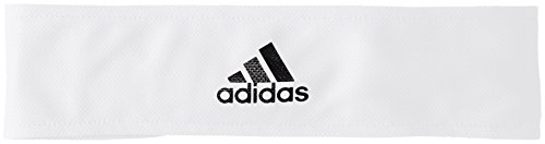 adidas Herren Tennis Stirnband, White/Silver Metallic/Black, - Tennis Herren Adidas Stirnband