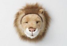Bibib Trophée - Tête de Lion en Peluche