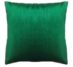 Safran Hand Loom Silk Bett Kissen Bezug Fall Kissenbezug, Seide, grün, 50,8 x 50,8 cm (Seide, Bett, Kissen)