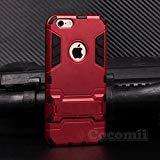 Cocomii Iron Man Armor iPhone 6S Plus/6 Plus Hülle NEU [Strapazierfähig] Taktisch Griff Ständer Stoßfest Gehäuse [Militärisch Verteidiger] Case Schutzhülle for Apple iPhone 6S Plus/6 Plus (I.Red)