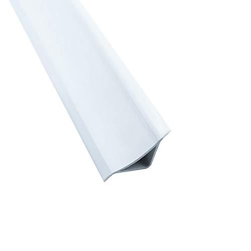 Abschlussleiste 2,5m Winkelleisten Bad Badewanne WC Gummilippe Wand PVC ALU 33mm ALU/PVC matt