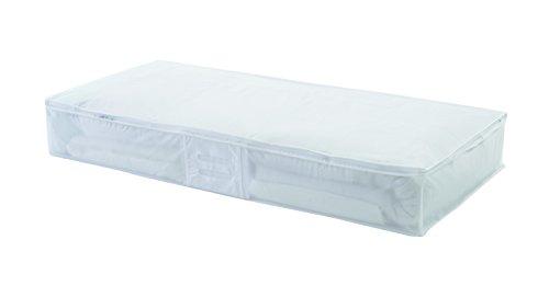 Compactor RAN2980 Milky Unterbettkommode Extra Flach 100 x 48 x 15cm; weiß transparent, Peva, Translucent White, 48 x 100 x 15 cm, 1 Einheiten