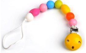 COLEXO RAINBOW, Schnullerkette, Schnullerband, Geschenk zur Taufe, Geschenk zur Geburt, Babygeschenk, Namen Schnullerkette, Baby Geschenk, Baby Schnullerkette, Schnullerhalter, Beißringhalter