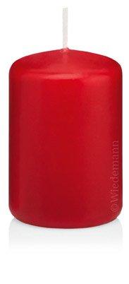 Rabatt im Sparpack Stumpenkerzen Rot 80 x 100mm 6 Stück