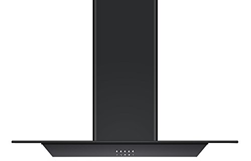 217cdjEC3iL - Cookology FLID900BK 90cm Island Chimney Cooker Hood in Black | Extractor Fan
